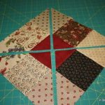 Triangle Patch Design Using Nine Different Fabrics