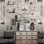 A Powerful Wall Decoration By Newspapers