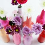 Colored Vase Made From Glass Bottles