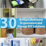 DIY Bathroom Decoration And Storage Ideas