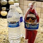 An extraordinary diy design : Elf on the shelf inside a bottle