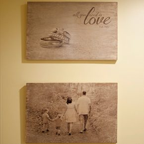 Printing your favorite pictures on wood plate
