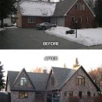 Before and after photos of an improved country house