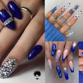 Nail Art Designs That Navy Blue Color Fits Most